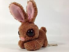 Vintage Russ PEEPERS Plush Bunny Rabbit BIG EYES Bean Bag Brown Stuffed Animal