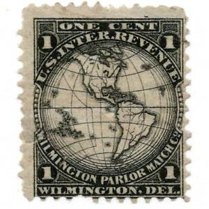 RO182a Match Revenue stamp, thin, small tear, Wilmington Parlor Match, Del $175