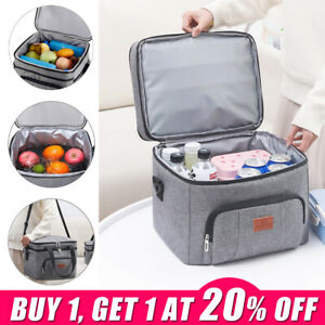 Outdoor Insulated Cooling Picnic Travel Camping Cooler Bag Lunch Food Ice DrinkS