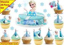 ELSA FROZEN Cup Cake Scene Topper Wafer Edible Birthday STAND UP CUSTOM