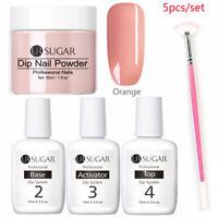 5Pcs/set UR SUGAR Nails Dipping Powder System Dip Liquid Gradient Nail Brush Kit