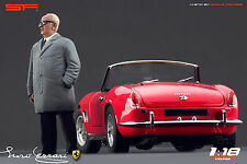 1/18 Enzo Ferrari in grey cloak VERY RARE!!! figures for1:18 CMC Exoto Autoart