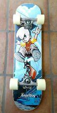 """Angelboy skateboard 29"""" deck with angelboy trucks black grip tape new Wheels"""