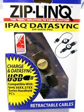 Zip-Linq IPAQ Datasync USB Retractable Cable (NOS, New Old Stock)(QTY 1 ea)ALT