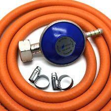 Continental Brand BUTANE GAS REGULATOR & 2m HOSE/PIPE, 2 CLIPS FITS CALOR 4.5kg