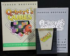 Qbert's Qubes with Box & Manual Colecovision 1984 Free US Shipping