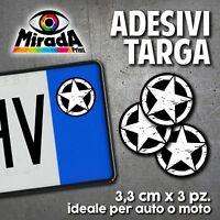 ADESIVI STICKERS BOLLINO TARGA STELLA MILITARE STAR US ARMY JEEP AUTO MOTO PLATE