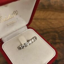 Half eternity diamond ring 9 stones white gold 2 carat 8 wedding Engagement