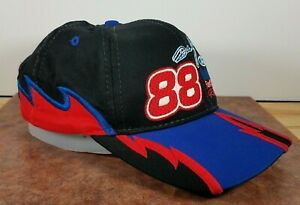 Dale Jarrett 88 Embroidered Baseball Cap Hat Nascar Ford Shark Tooth all Over