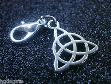 10 Silver Tone Celtic Knot Clip on Charms  Jewellery Making Wholesale