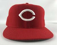 Cincinnati Reds New Era 5950 Pro Model Baseball Hat Red - Size 7 3/8 Vintage