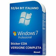 LICENZA MICROSOFT WINDOWS 7 Pro Professional 32/64 BIT COA STICKER