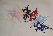 Floral lace applique dress sewing cotton lace motif for sale. Various colours