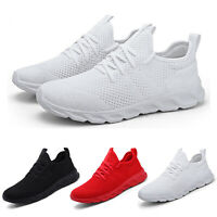 Womens Sport Running Shoes Comfortable Lightweight Mesh Walking Slip-On Sneakers