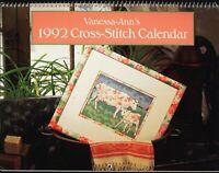 Vanessa Ann 1992 Cross Stitch Pattern Calendar Snowflake Ornament Santa Skeleton