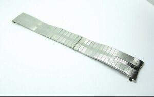 Vintage Stelux Hybrid Expandable Stainless Steel Watch Bracelet 19mm