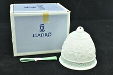 Lladro 1992 Christmas Bell Ornament Poinsettia Candle Design #15913