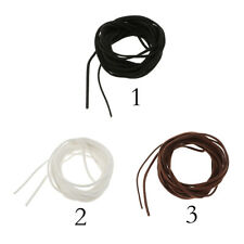 5m Faux Leather Cord Suede Thong Lace Flat Rope Thread String for DIY Crafts