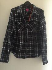 New Womens Superdry Lumberjack Twill Shirt Christie Green Check - Size: M
