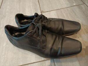CLARKS MENS SHOES BLACK FORMAL OFFICE DRESS WORK SIZE 10
