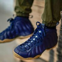 Nike Air Foamposite 1 Navy sz 9  314996 405 penny hardaway retro basketball shoe