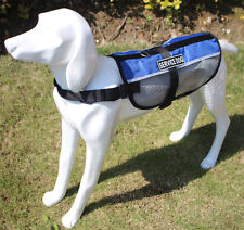 Reflective Service Dog Vest Mesh Harness Removable TRAINING THERAPY DOG Patches