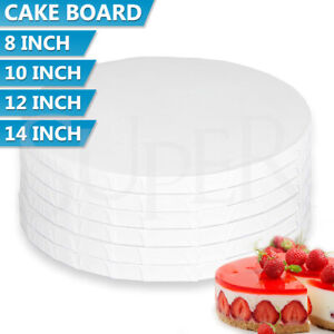 Masonite Cake Boards 5mm White Round Various Sizes Wedding Party Tall Display