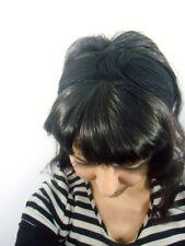 Serre tête turban épais tissu noir rétro pinup vintage inspired coiffures