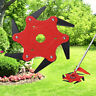 6 Steel Trimmer Head Blades Razors 65Mn Lawn Mower Grass Weed Cutter Red Outdoor