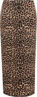 Plus Size Womens Animal Leopard Spot Print Long Stretch Ladies Maxi Skirt 14-28