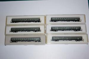 Marklin 8711 x6 voitures 2eme classe pour train rapide de la DB échelle Z 1/220