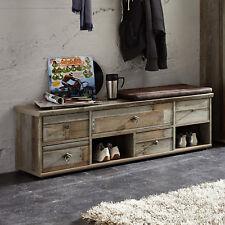 Garderobenbank Bonanza Schuhbank Kommode Driftwood inkl. Kissen braun