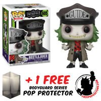 FUNKO POP BEETLEJUICE WITH GUIDE HAT EXCLUSIVE FIGURE + FREE POP PROTECTOR