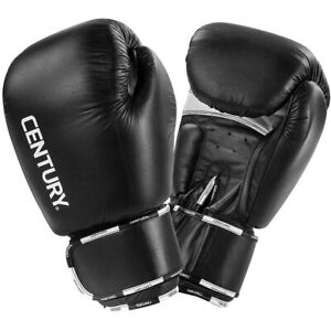 Century Creed Hook and Loop Sparring Boxing Gloves - 18 oz. - Black/White
