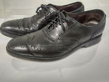 Allen Edmonds Jefferson Black Leather Wingtip Oxford Shoes Mens Size 9 D