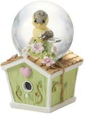 PRECIOUS MOMENTS Mini Waterball Snow Globe Goldfinch Birdhouse Figurine #154443