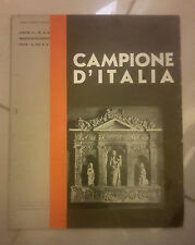 RIVISTA CAMPIONE D'ITALIA COMO MERATE INTROBIO LUGANO 1934
