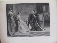 """Artist William F Yeames """"The Wooing Of Henry V"""" 1876 Appleton Print W Greatbach"""