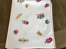 Vintage  Tablecloth - Farmhouse/Rustic/Picnic - (51 x 62) 100% Cotton