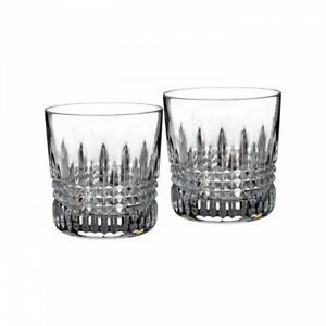 Waterford Crystal : Lismore Diamond Old Fashioned Pair 9oz