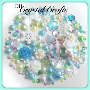 Disney Tinkerbell & Frost Fairies  Cabochons Gems & pearls Flatbacks decoden  #3