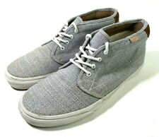 Vans California Chukka Shoes Mens 9.5 Womens 11  Grey Twill w/ Leather Accents