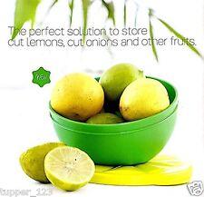 Tupperware Fun Lemon Bowl-New -Free Shipping- Green with Yellow Seal