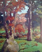 "Large Impressionist Landscape Oil Painting Original Canvas Signed 22""x28"""