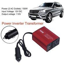 150W Car Power Inverter DC 12V to AC 110V Converter With 2 USB Ports TN
