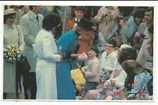 ROYALTY - DIANA, PRINCESS of WALES in NEWFOUNDLAND, CANADA 1983 Postcard