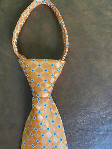 My Favorite Pal Zipper Necktie Orance w/Blue Accents