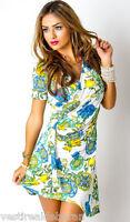 Miniabito Vestitino Donna Vestito Abito MISSY T1039-C063 Tg S/M M/L