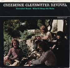 """Creedence Clearwater Revival """"Travelin' Band"""" """"Who'll Stop The Rain"""" Record & PS"""