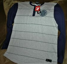 New York City FC LONG SLEEVE henley shirt MEN'S LARGE New with tags Adidas MLS